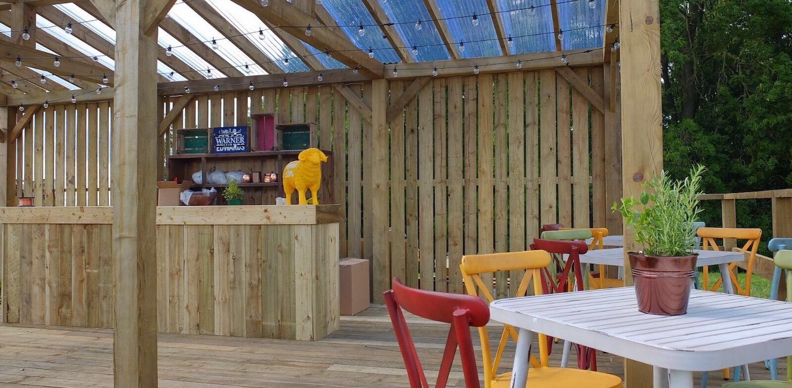 Timber garden bar
