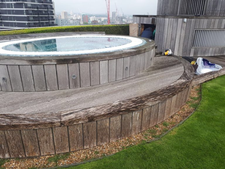 Roof terrace decking london - before