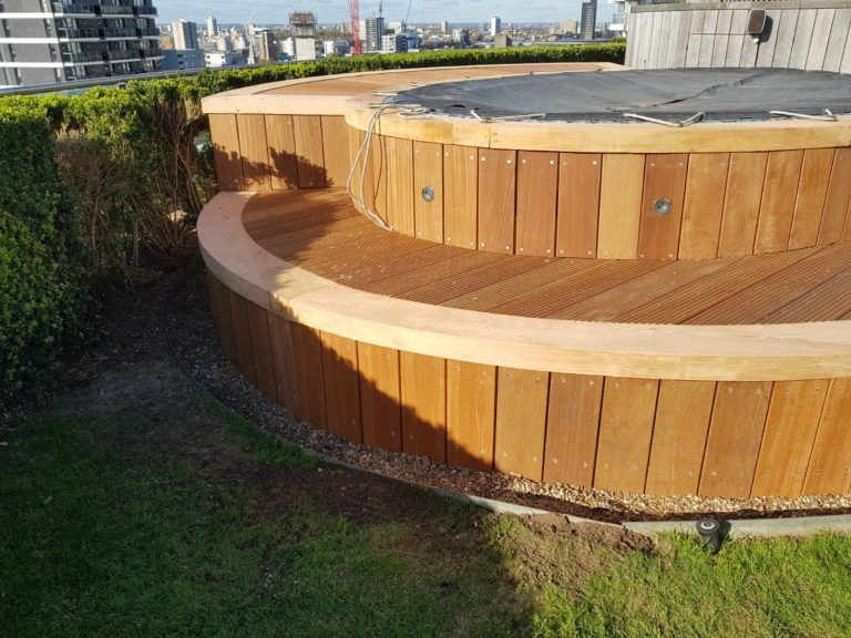 Roof terrace decking london