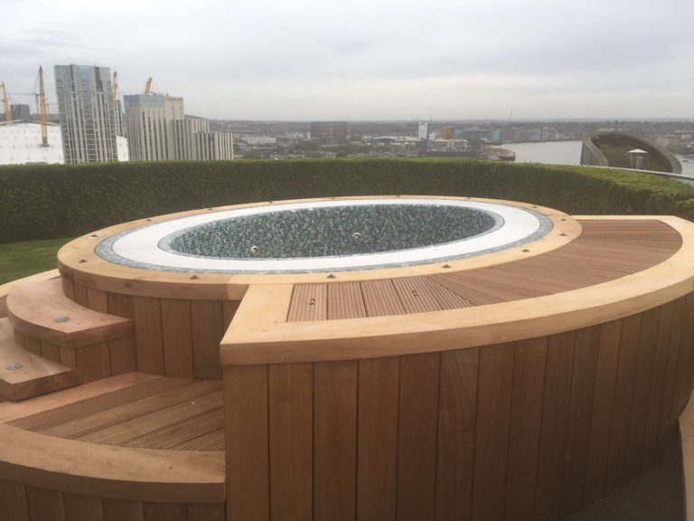 hot tub roof terrace decking london